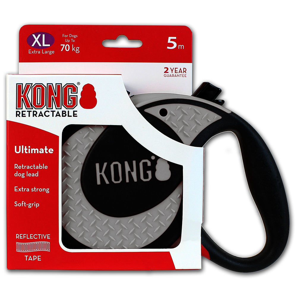 KONG Rollleine Ultimate, XL, grau
