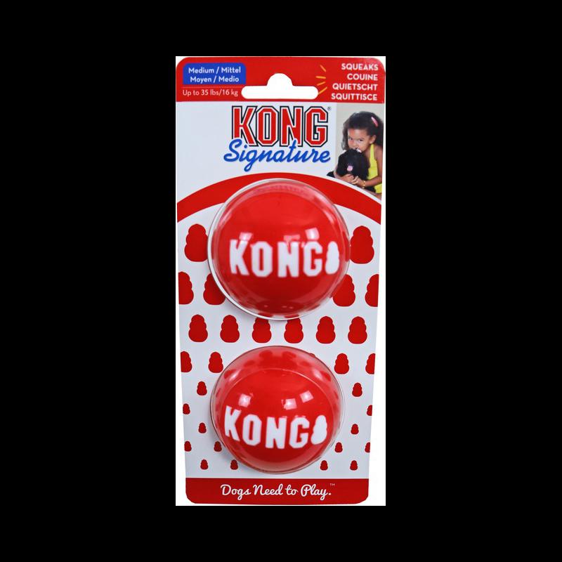 KONG Signature Balls Hundeball 2er Pack, Bild 4