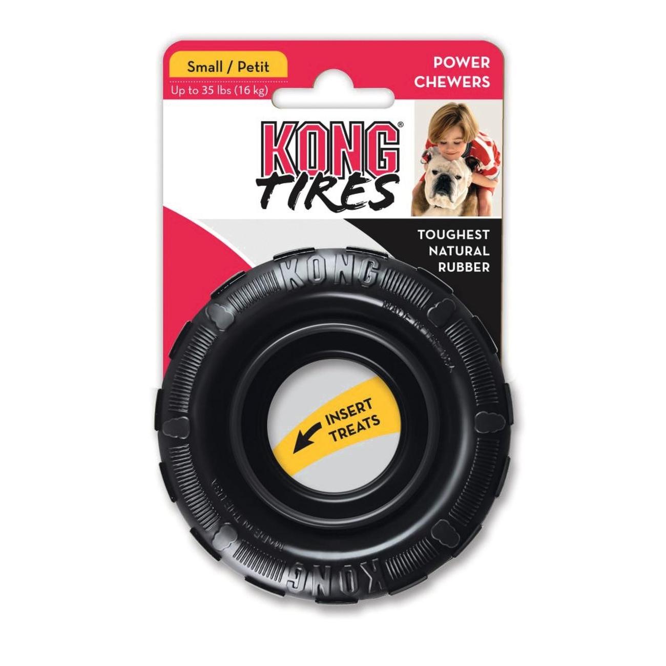 Hundespielzeug KONG Tires Kaureifen, small, Ø 9 cm