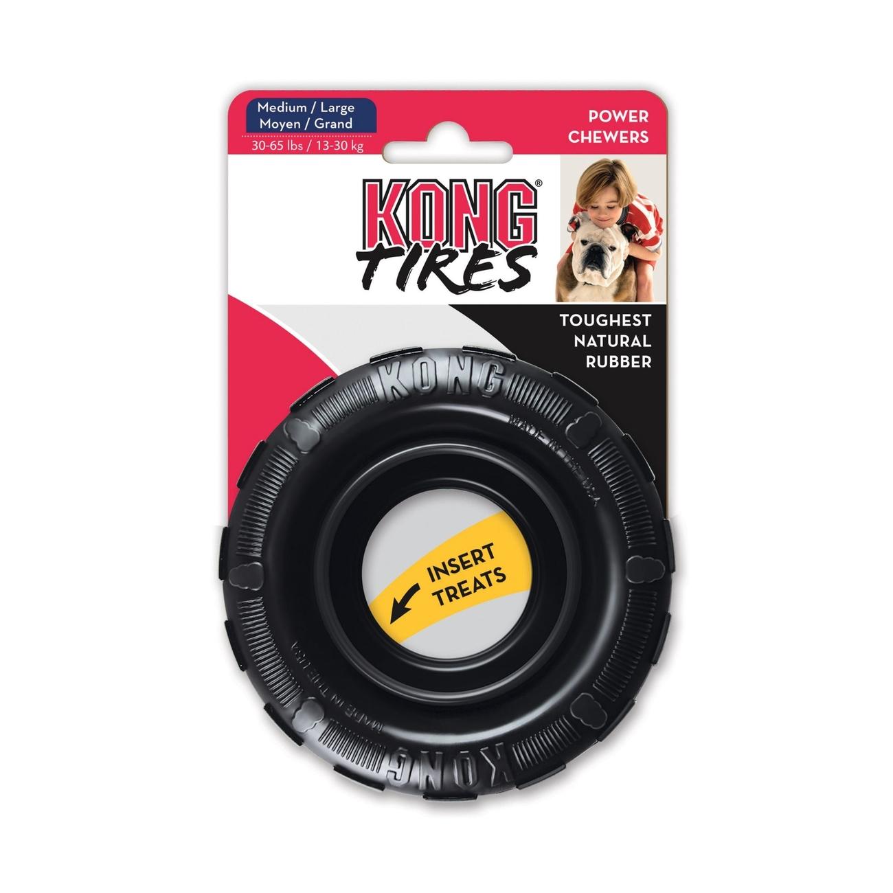Hundespielzeug KONG Tires Kaureifen, medium/large, Ø 11 cm