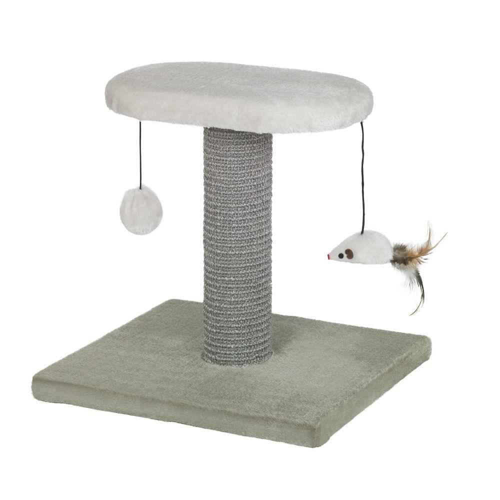 Nobby Kratzbaum YUKI mit Spielzeug, 31 x 36 x 34 cm, beige/grau