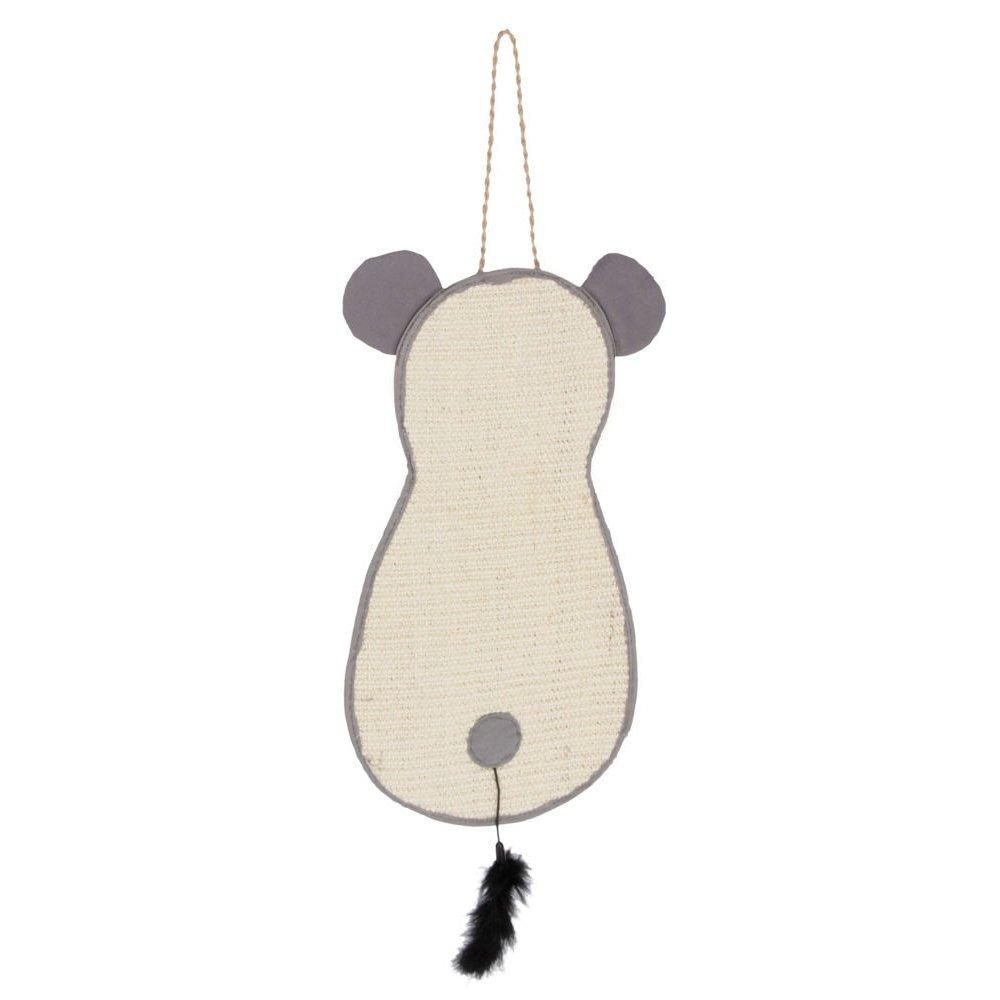 Kerbl Kratzmatte Maus zum Aufhängen, 66 x 25cm, grau