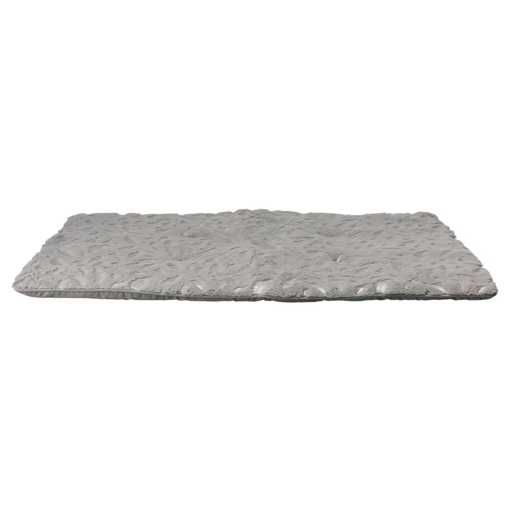 Trixie Kuscheldecke Feder für Hunde und Katzen, 100 × 70 cm, grau/silber