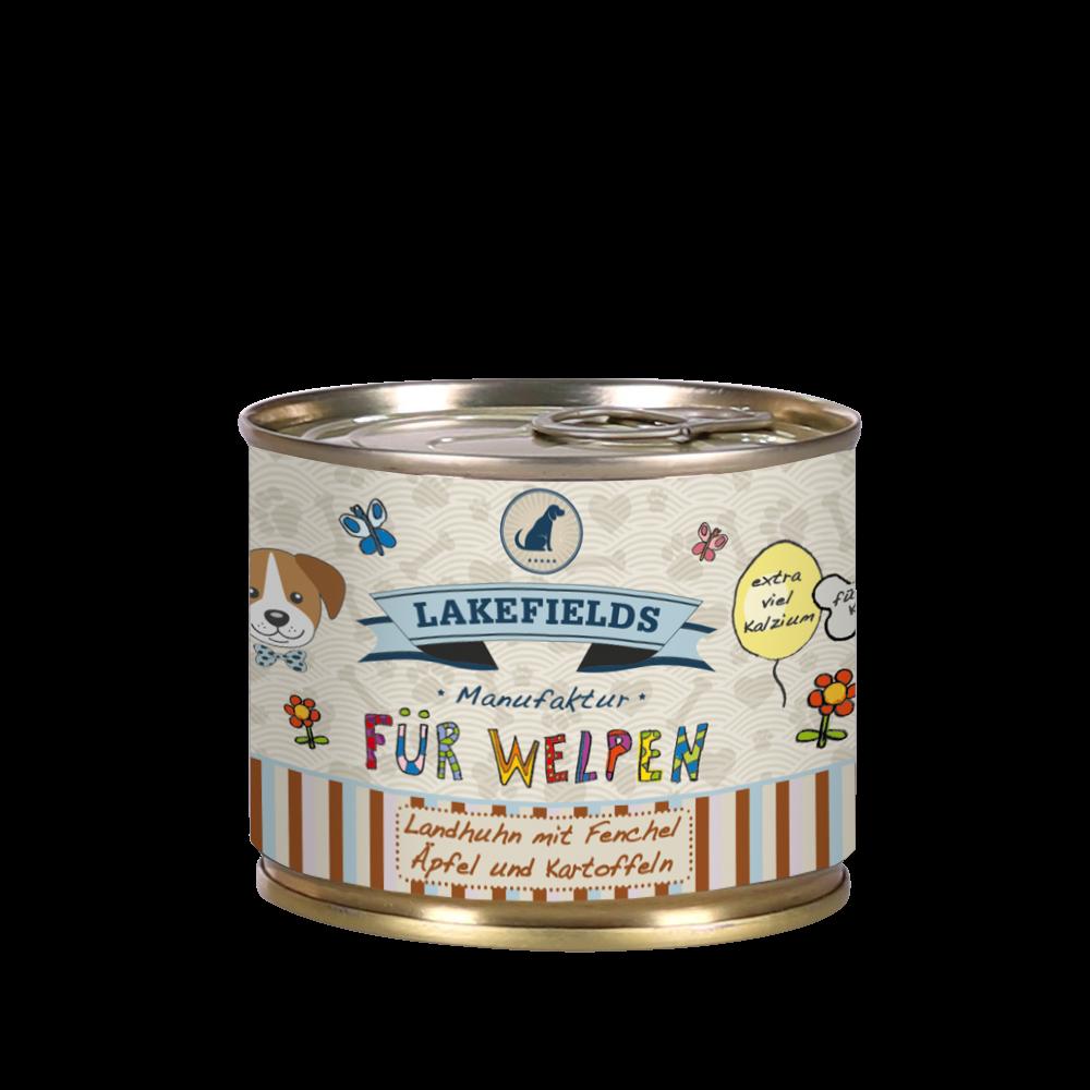 Lakefields Dosenfleisch-Menü Huhn für Welpen