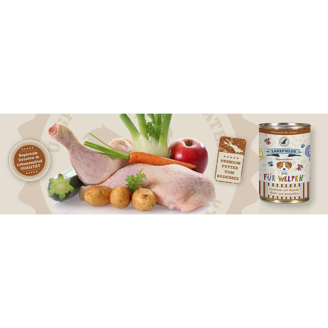 Lakefields Dosenfleisch-Menü Huhn für Welpen, Bild 2