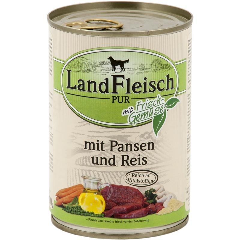 Dr. Alders Landfleisch Hundefutter Adult, Pansen & Reis 12 x 400 g