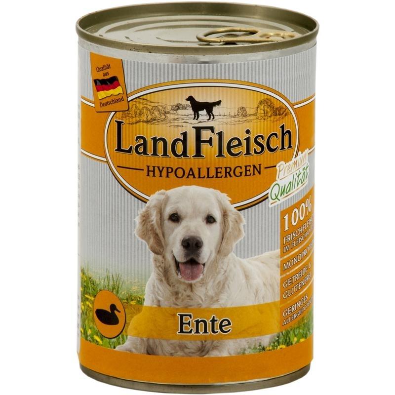 LandFleisch Hypoallergen Hundefutter, Ente 12x400g