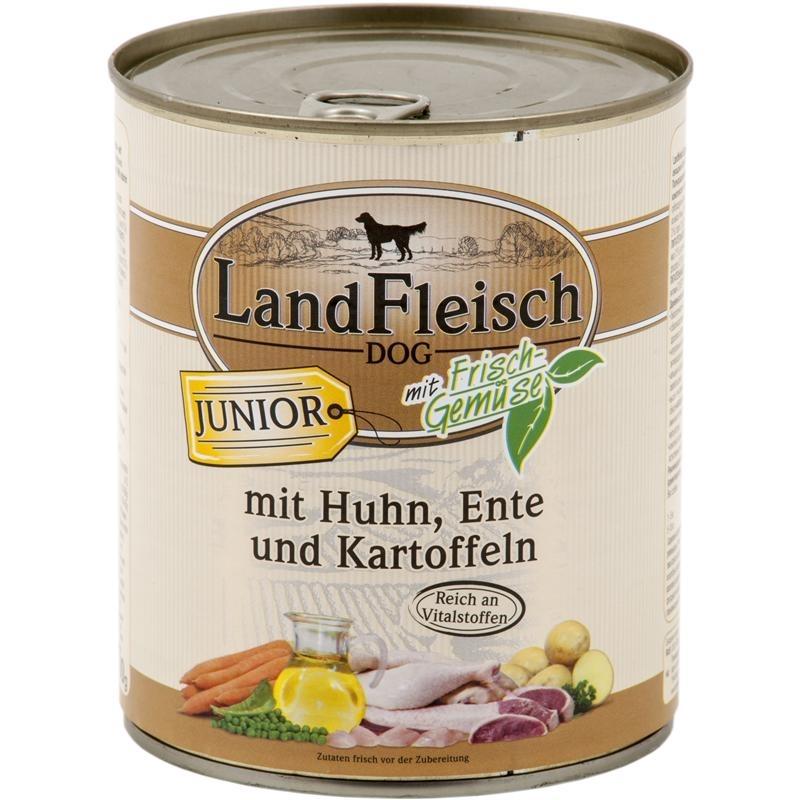 Dr. Alders Landfleisch Junior Hundefutter, Pute 6x800 g