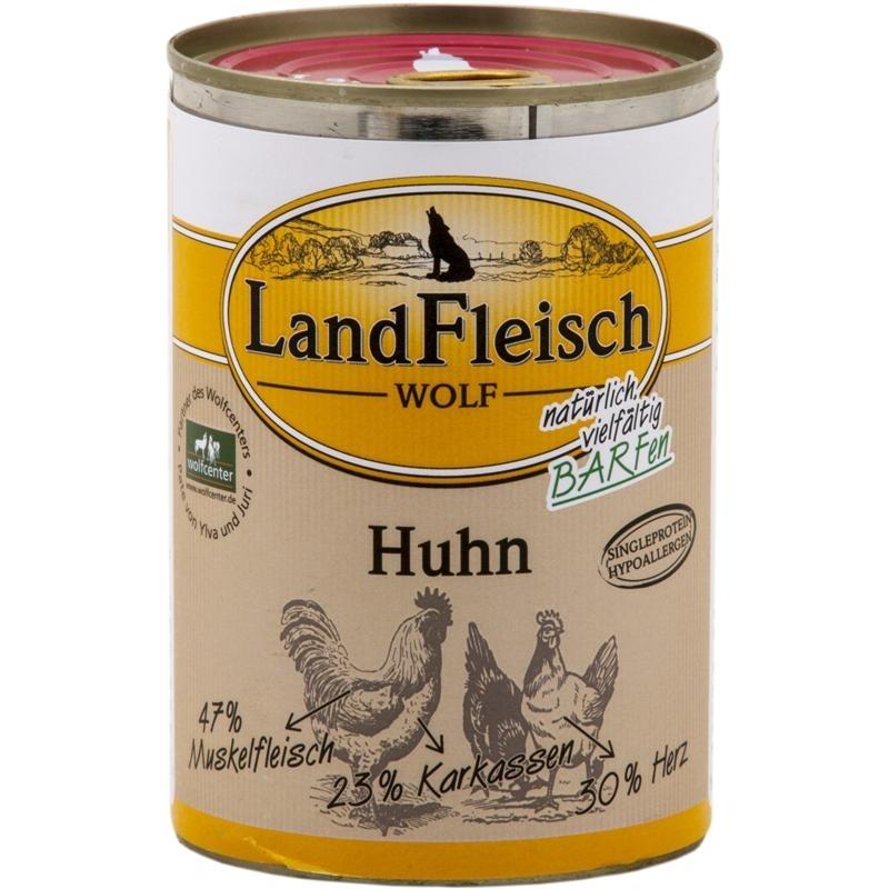 Dr. Alders LandFleisch Wolf Hundefutter, 100 % vom Huhn 12x400g