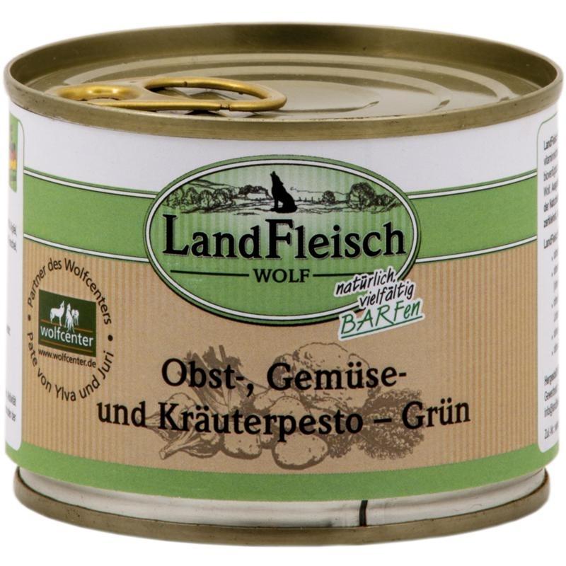 Dr. Alders LandFleisch Wolf Pesto, Obst-, Gemüse und Kräuterpesto Grün 12x200g