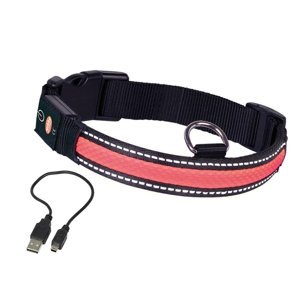 Nobby LED Leuchthalsband für Hunde FLASH MESH