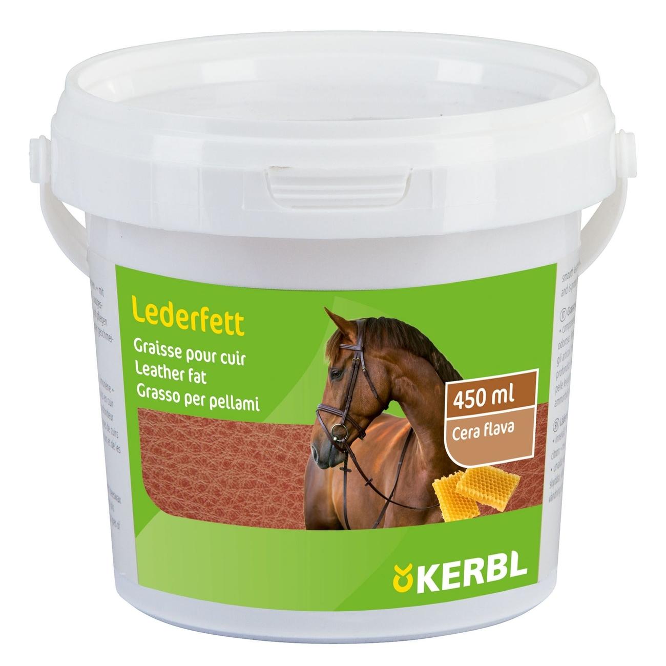 Kerbl Lederfett mit Bienenwachs, 450 ml