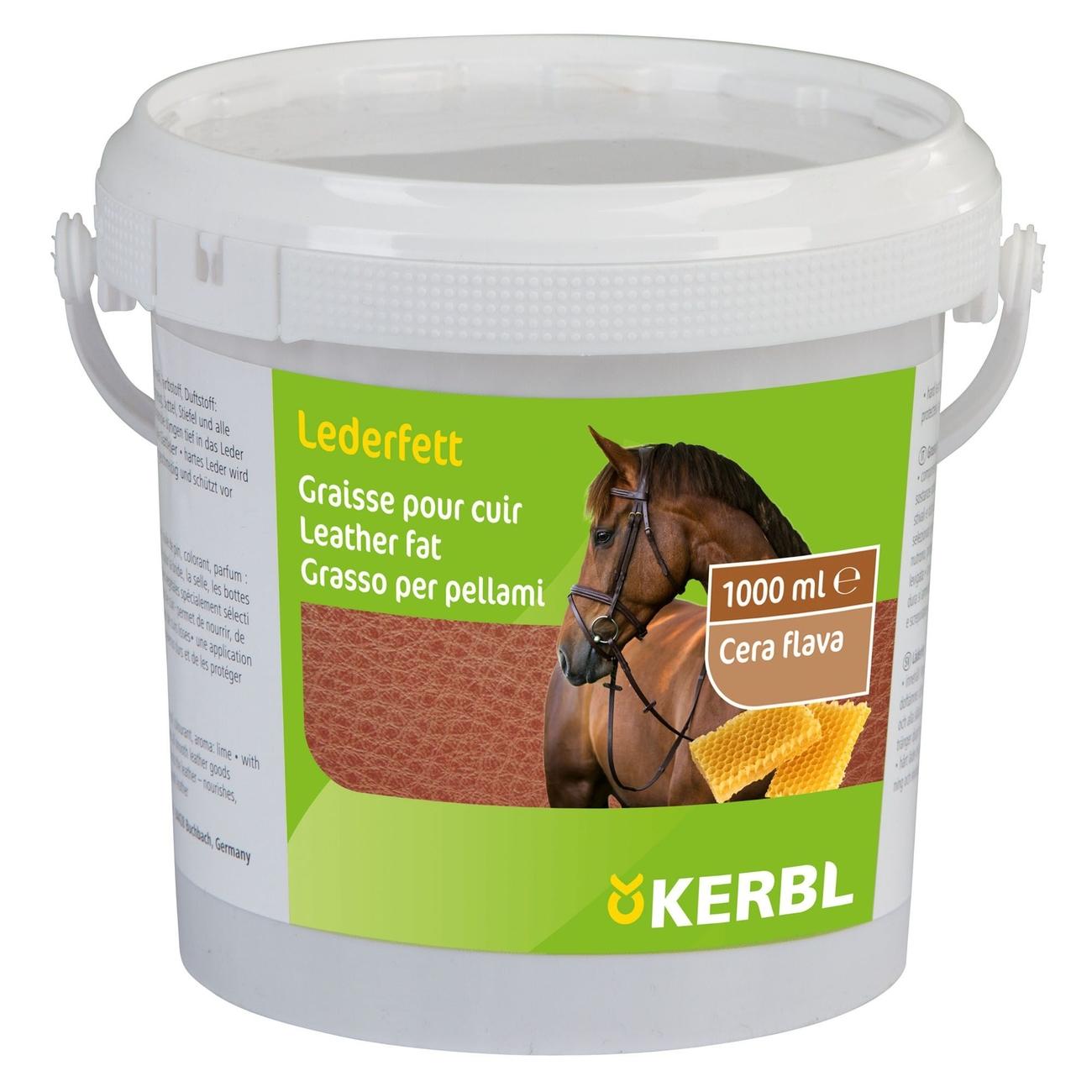 Kerbl Lederfett mit Bienenwachs, 1000 ml