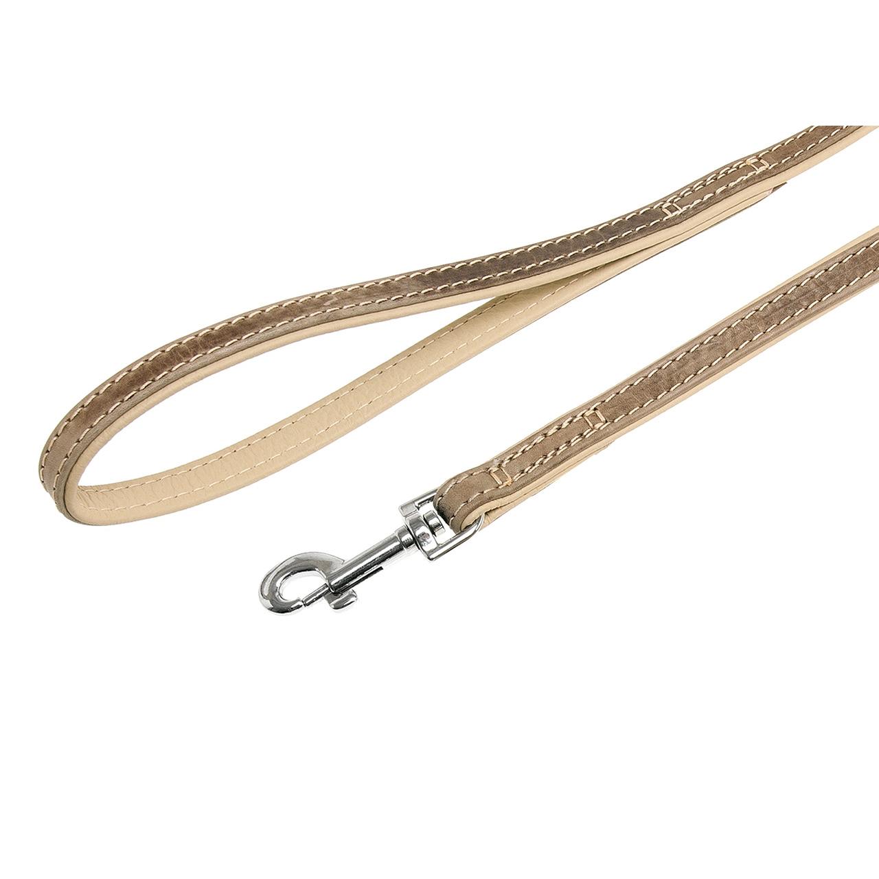 Karlie Lederleine Comfort für Hunde, grau - L: 100 cm B: 18 mm