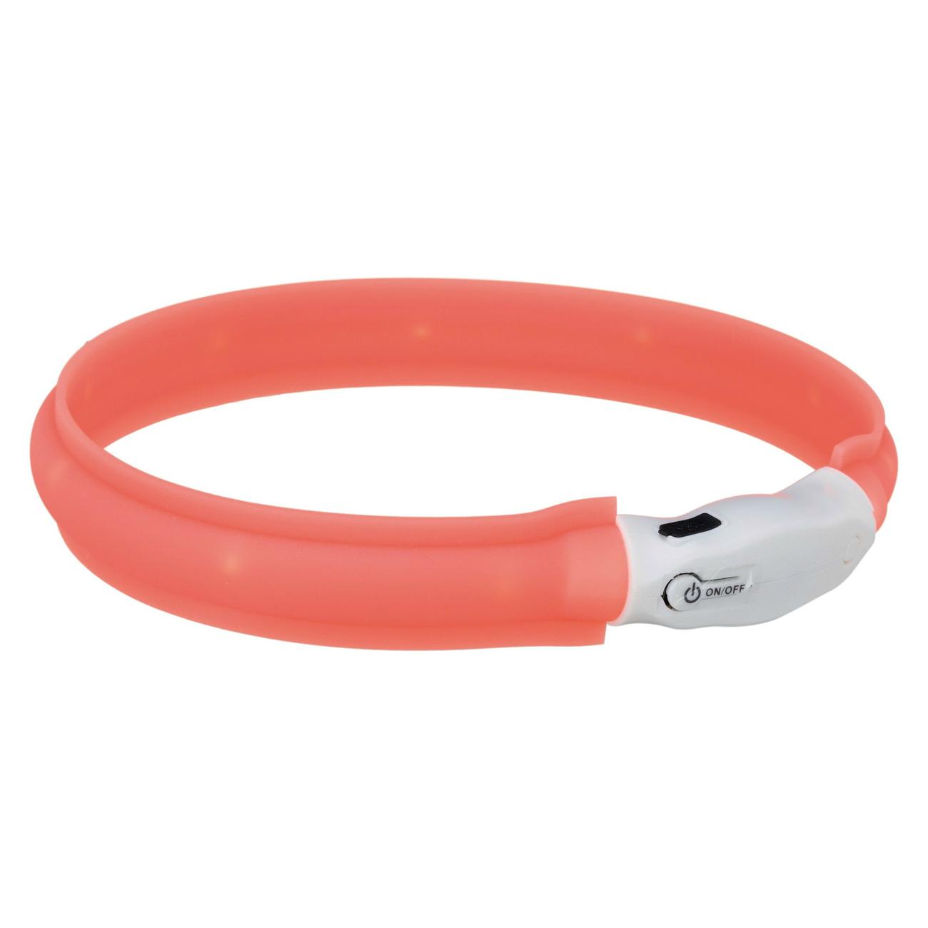 Trixie Leuchtband für Hunde USB orange, L–XL: 70 cm/25 mm, orange