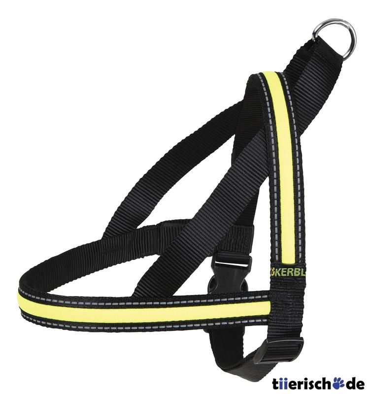 Kerbl Leuchtgeschirr für Hunde Light & Reflex, Brust 60 - 75 cm, Breite 2,5 cm