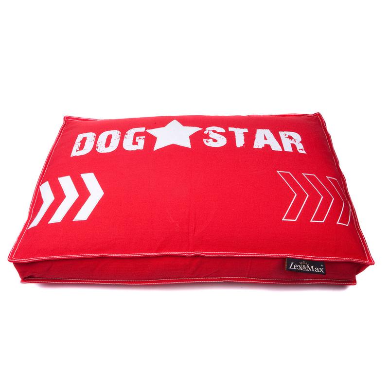 Lex & Max Lex&Max Hundekissen-Bezug BoxBed Dogstar, 75 x 50 x 9 cm, rot, Bezug