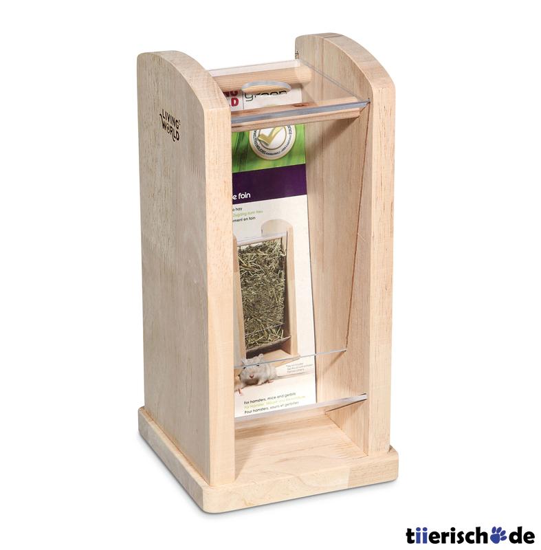 Living World Green Living Word Green Heuraufe aus Holz, Klein, 13 cm x 13 cm x 26,5 cm, für Hamster und Mäuse