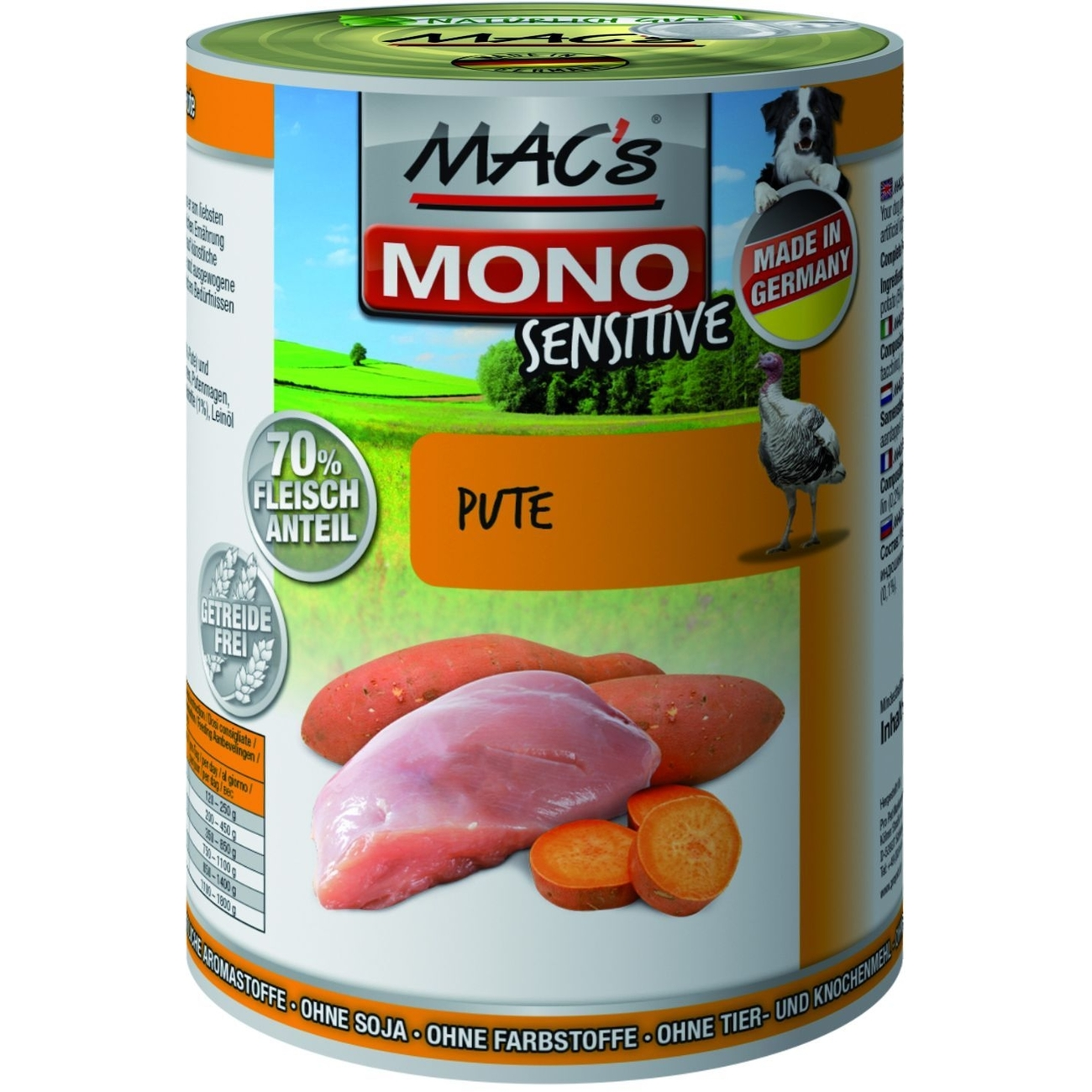 MACs Mono Sensitive Hundefutter in Dosen, Bild 4