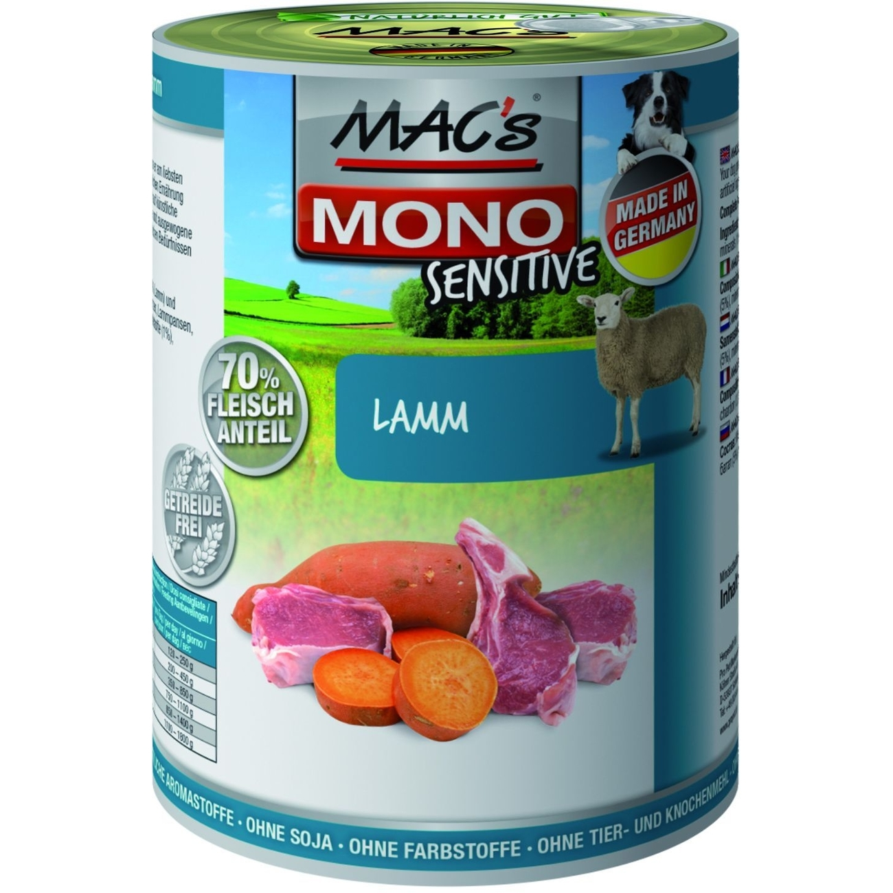 MACs Mono Sensitive Hundefutter in Dosen, Bild 3