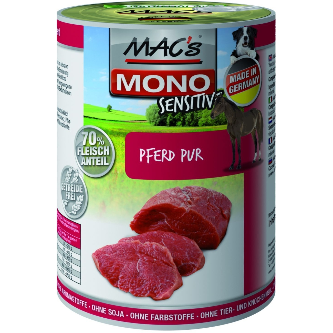 MACs Mono Sensitive Hundefutter in Dosen, Bild 2