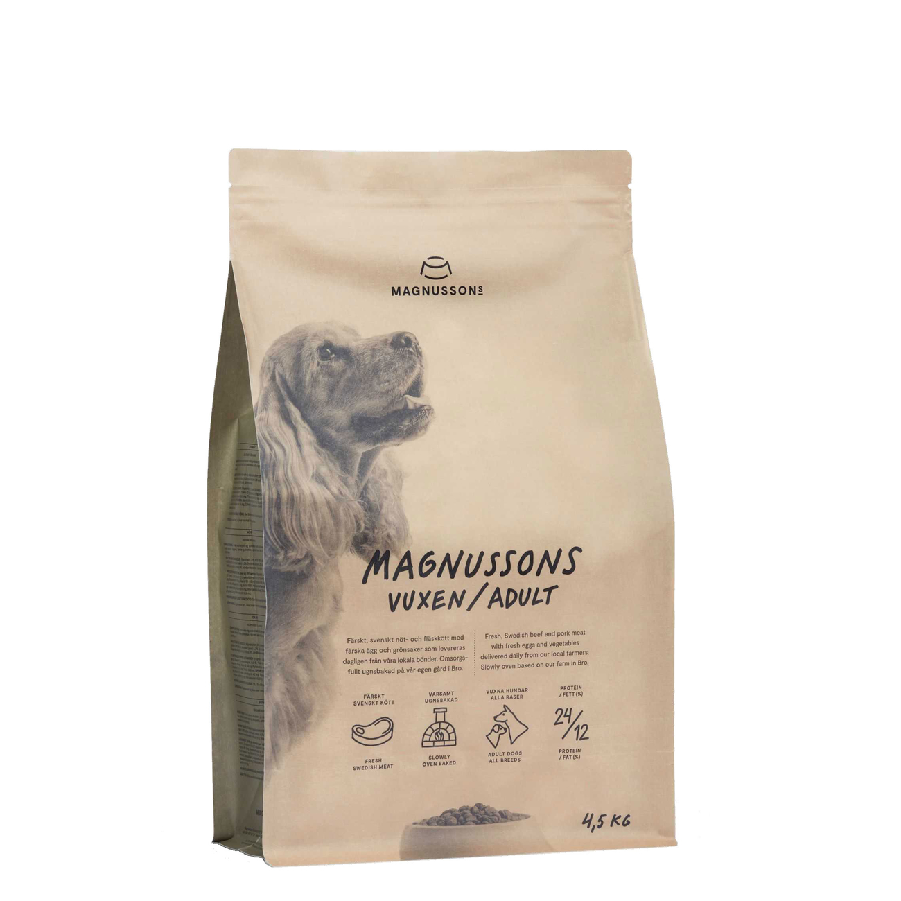 Magnusson Meat & Biscuit Adult Hundefutter, 4,5 kg