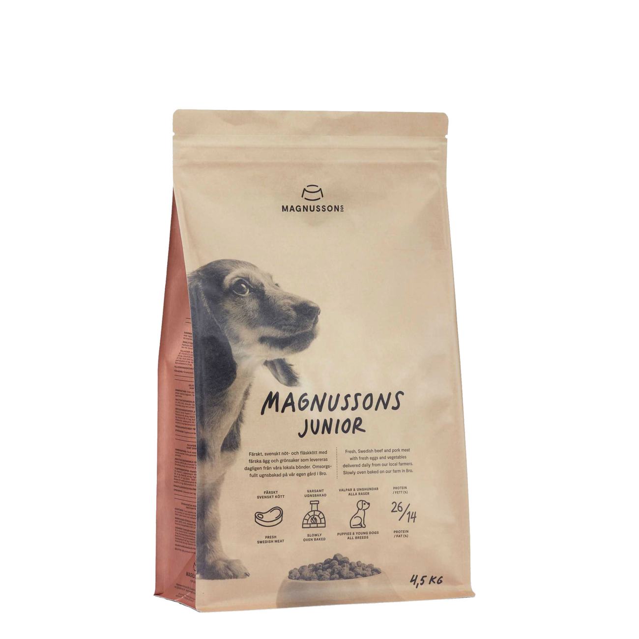 Magnusson Meat & Biscuit Adult Junior Hundefutter, 4,5 kg