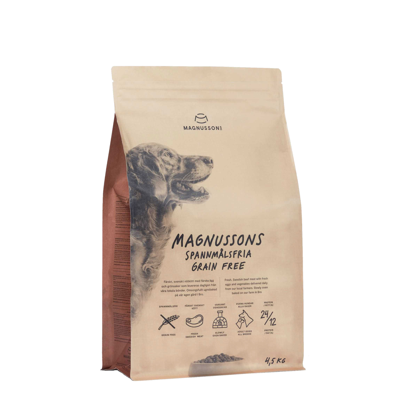 Magnusson Meat & Biscuit Grain Free Hundefutter, 4,5 kg