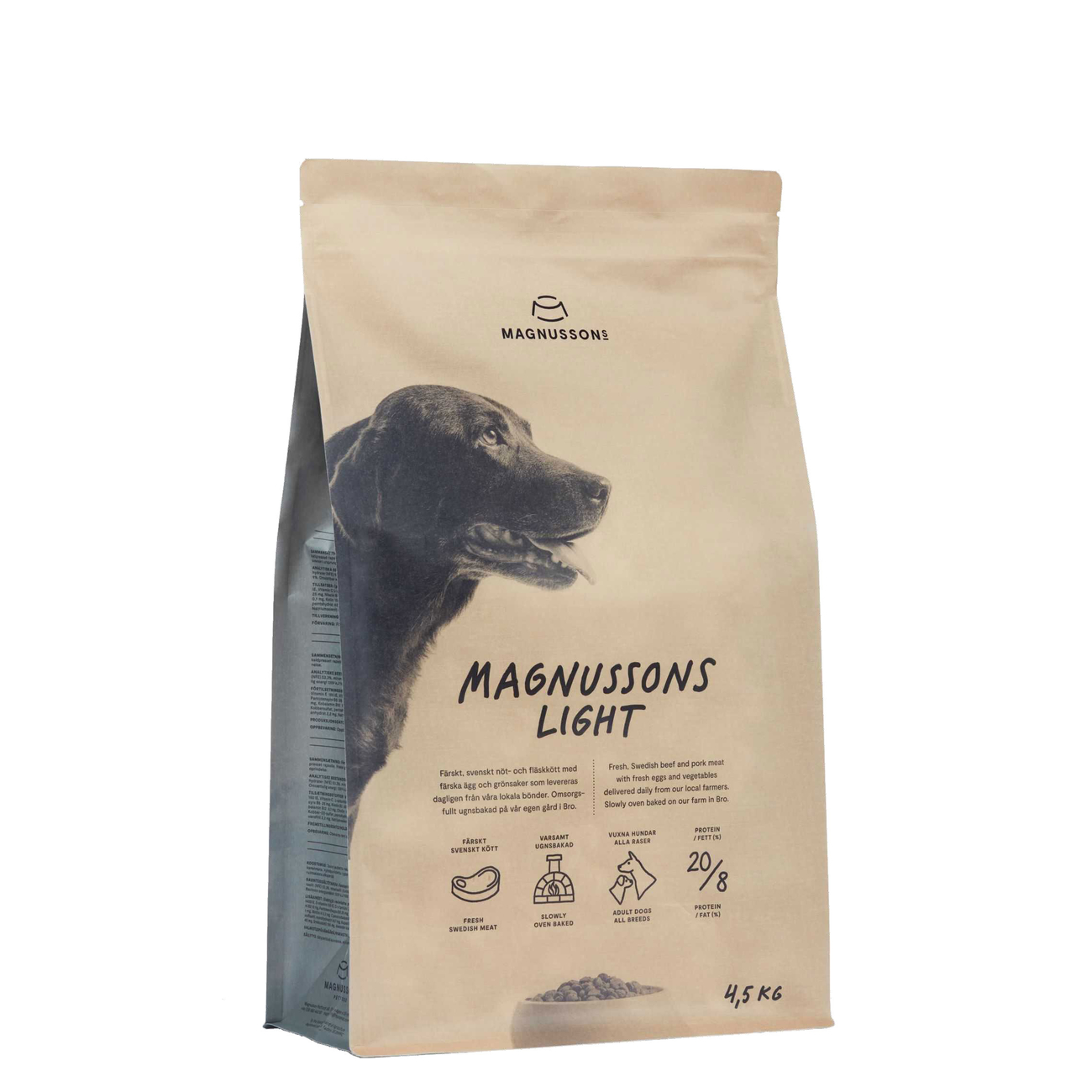 Magnusson Meat & Biscuit Light Hundefutter, 4,5 kg