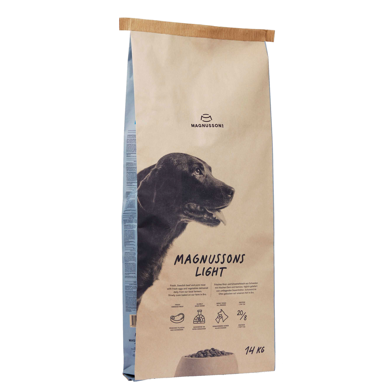 Magnusson Meat & Biscuit Light Hundefutter, 14 kg