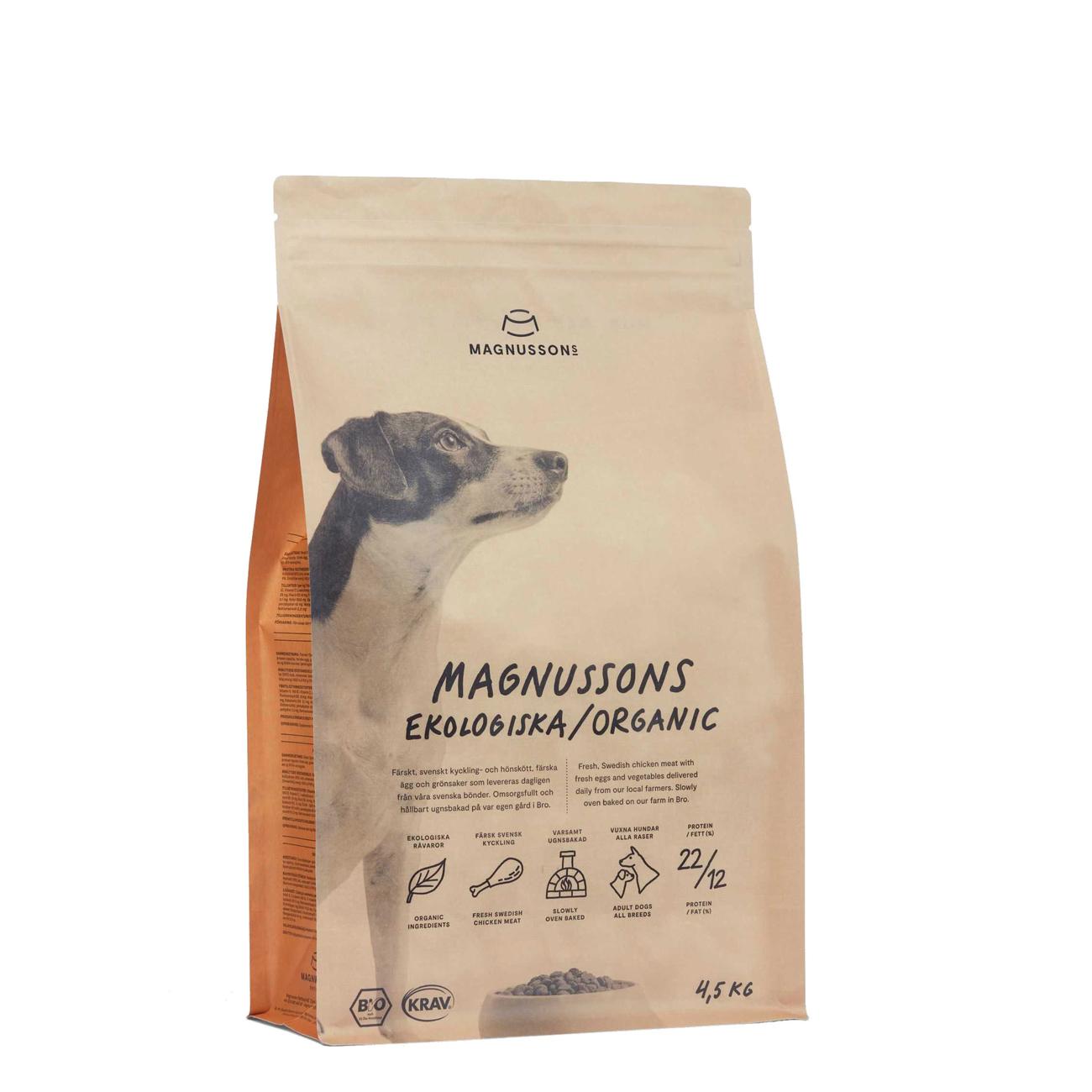 Magnusson Organic Bio Hundefutter, 4,5 kg