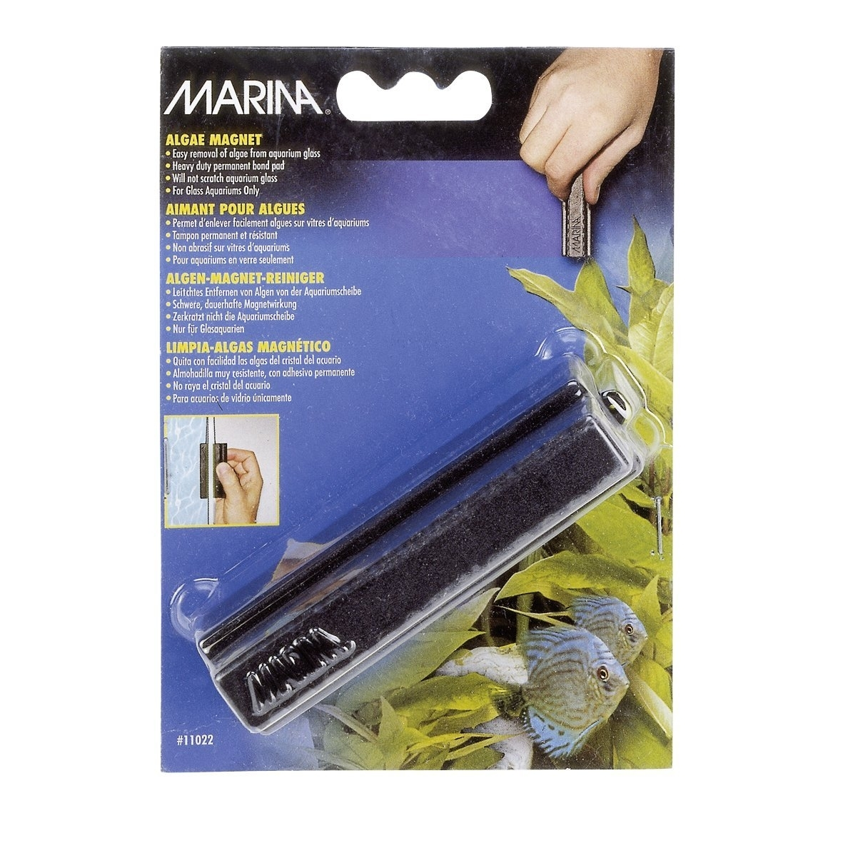 Hagen Marina Algenmagnet-Reiniger für Aquarium, groß, 8,5 x 6,0 x 3,5 cm