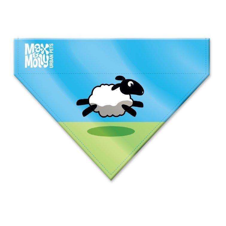 Max & Molly Bandana Black Sheep, XS/S: 12,5 x 10 cm