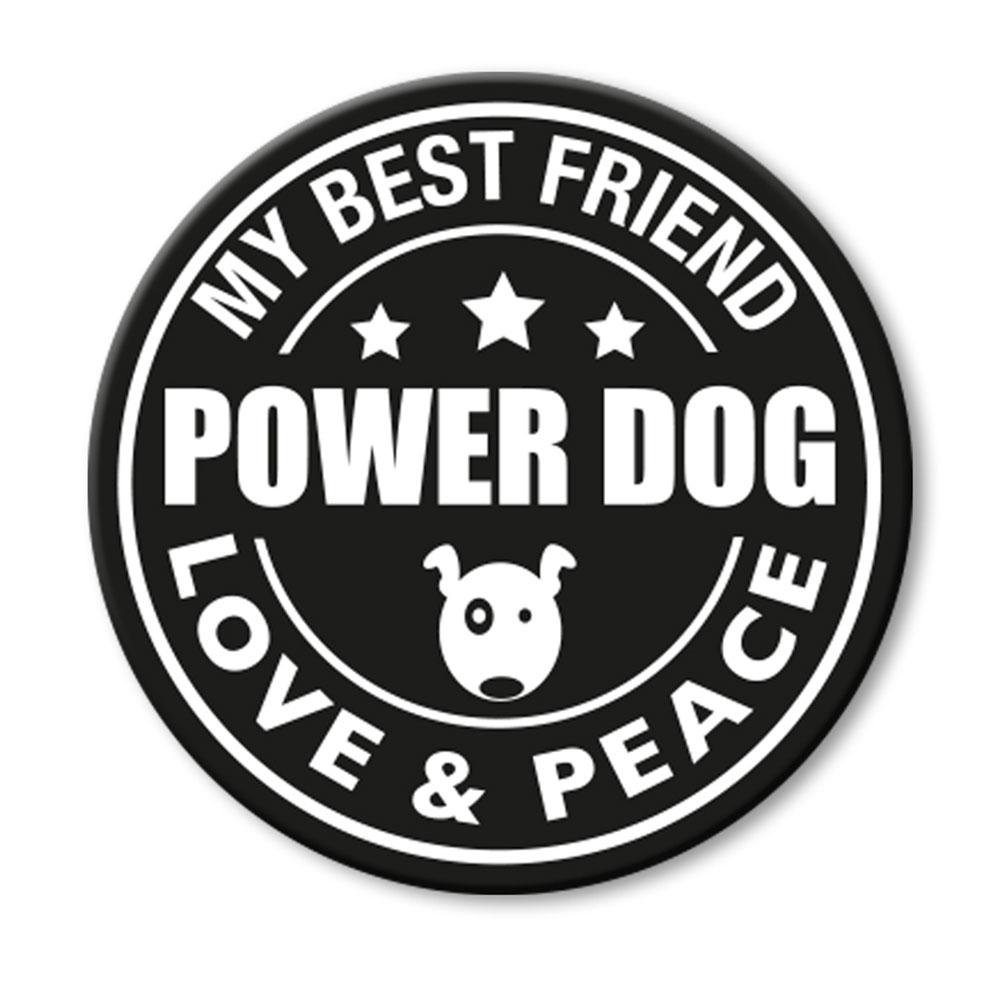 Max & Molly Cool Tags für Leinen und Geschirre, für L-XXL Geschirre - Power Dog (rund)