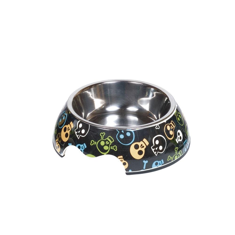 Nobby Melamin Hundenapf Skull, S: 14 x 4,5 cm, 160 ml