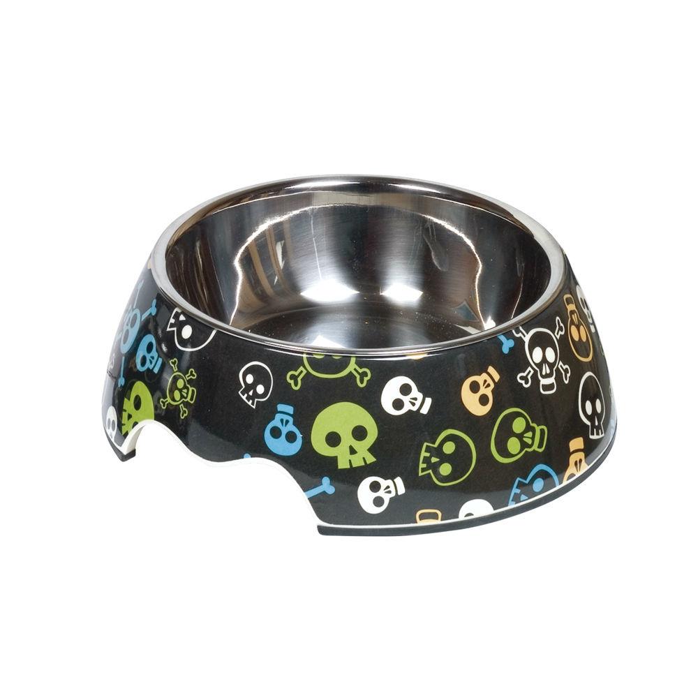 Nobby Melamin Hundenapf Skull, M: 17,5 x 6,5 cm, 350 ml