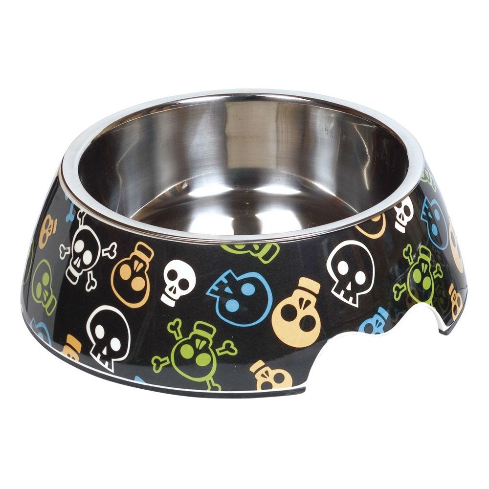 Nobby Melamin Hundenapf Skull, L: 22 x 7,5 cm, 700 ml
