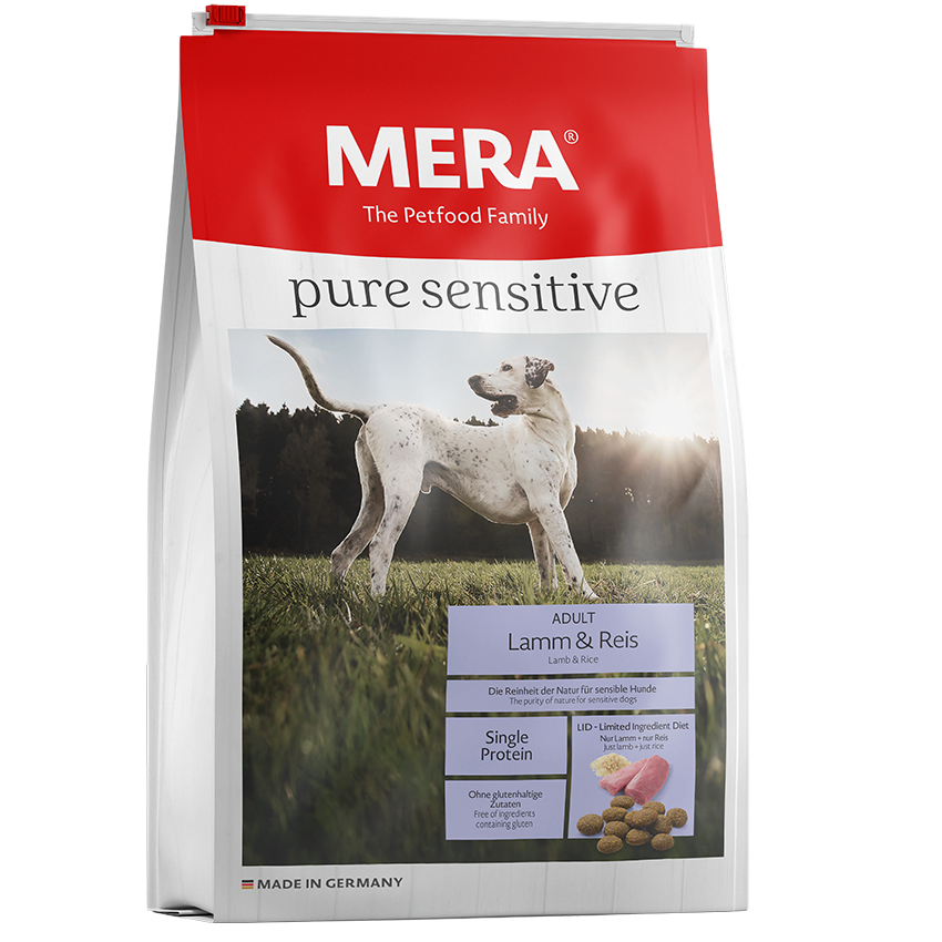 Mera Dog Pure Sensitive Lamm & Reis Hundefutter, 4kg