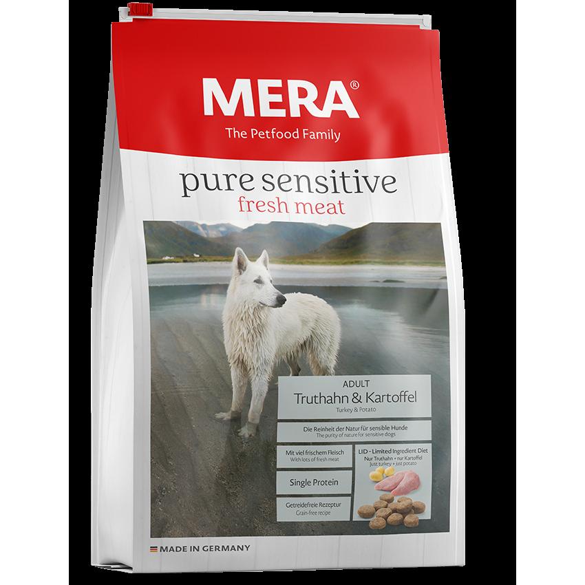 Mera Dog Meradog Pure Sensitive Truthahn und Kartoffel Hundefutter, 12,5 kg