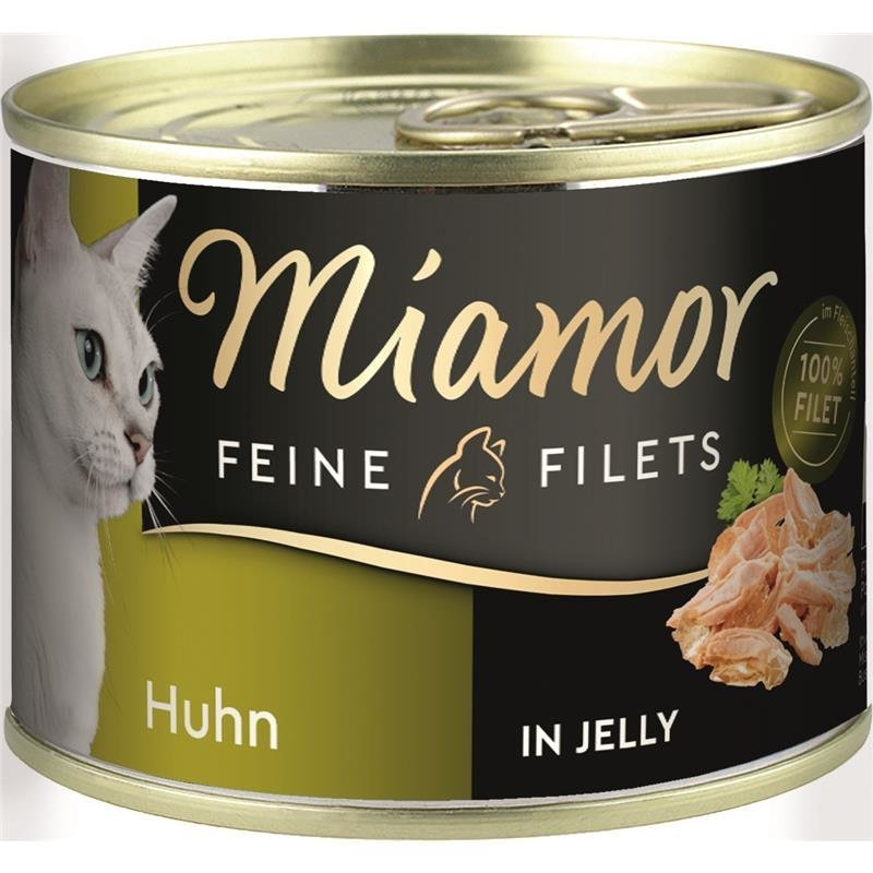 Miamor Feine Filets Dosen Katzenfutter, Huhn 12x185 g