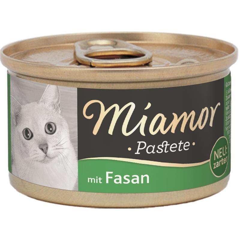 Finnern Katzenfutter Pastete in Dosen, Fasan 12x85g