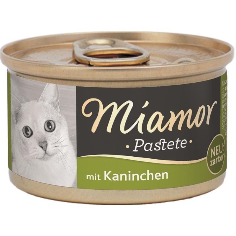 Finnern Katzenfutter Pastete in Dosen, Kaninchen 12x85g