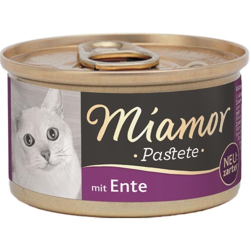 Finnern Katzenfutter Pastete in Dosen, Ente 12x85g