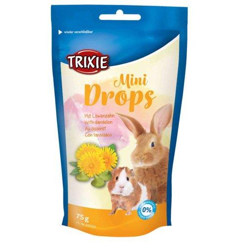 Trixie Mini Drops für Meerschweinchen und Kaninchen, Löwenzahn, 75 g