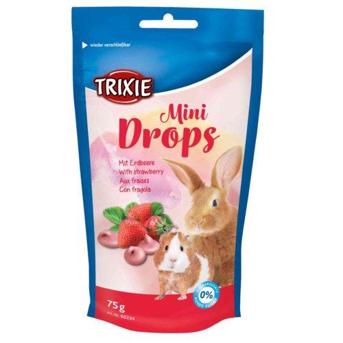 Trixie Mini Drops für Meerschweinchen und Kaninchen, Erdbeere, 75 g