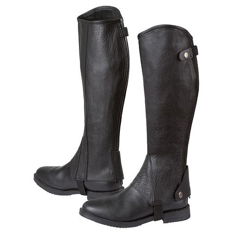 Covalliero Minichaps Stiefelschaft Elasto Leder von Covalliero