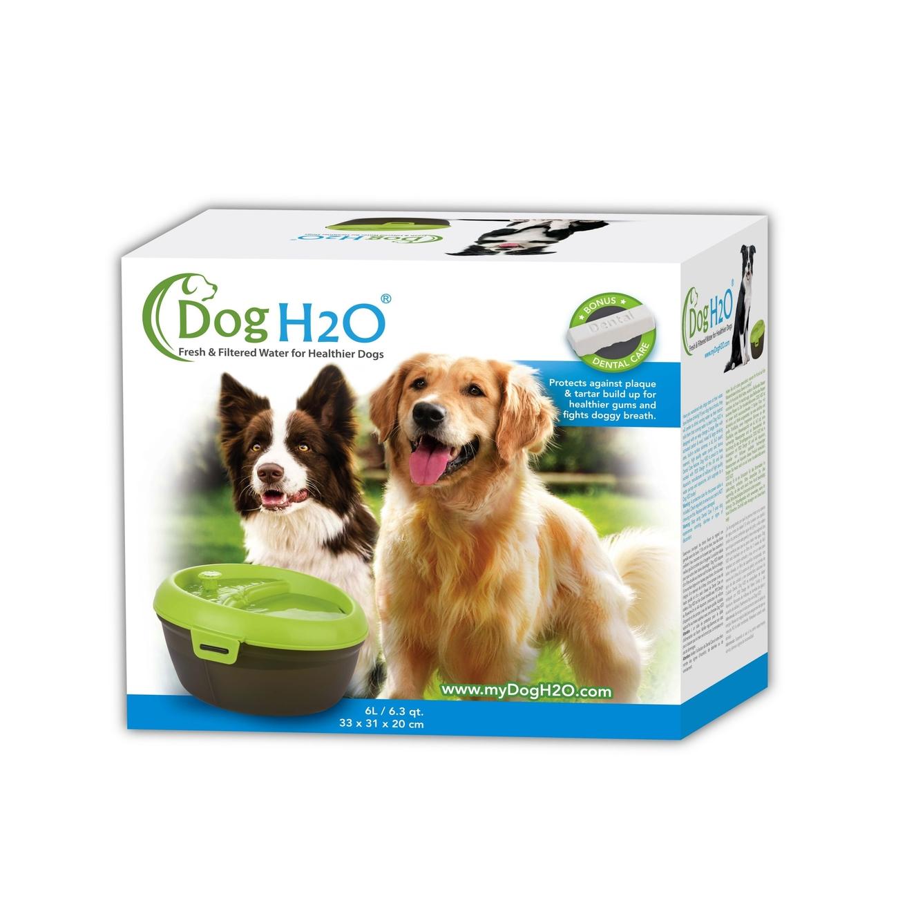 Dog H2O Hundetrinkbrunnen mit Zahnpflege, Bild 5