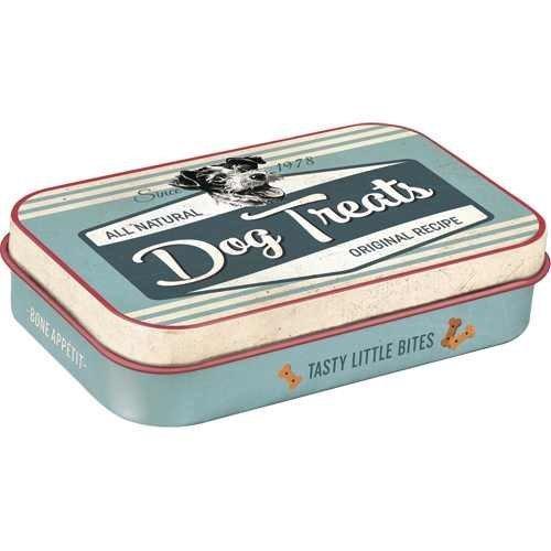 Nostalgic-Art Dog Treats Blue, Leckerli-Dose