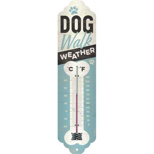 Nostalgic-Art Dog Walk Weather, Thermometer