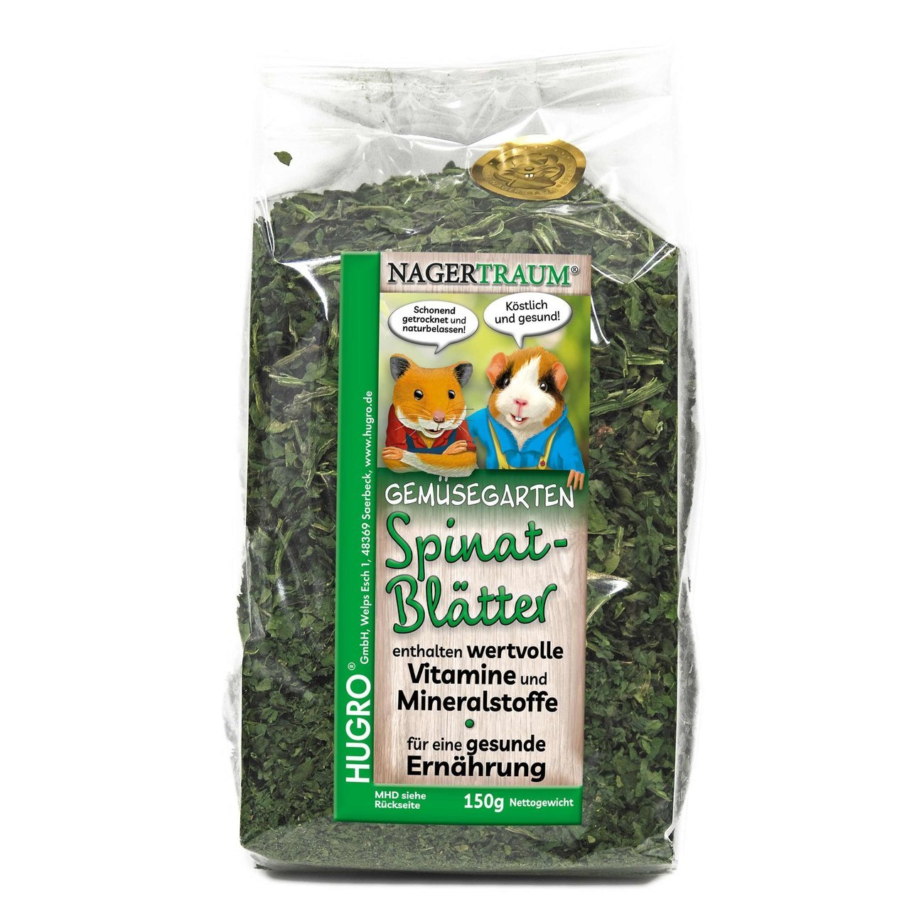 Hugro Nagertraum Spinatblätter, 150 g
